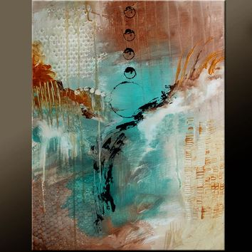 Abstract Canvas Art 18x24 Original Contemporary Fine Art Paintings by Destiny Womack - dWo - In The Moment
