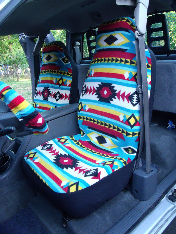 1 Set Of Bright Southwest Print Seat From ChaiLinSews On Etsy