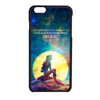 Mermaid Ariel The Little Quotes In The Moon Light iPhone 6 Case