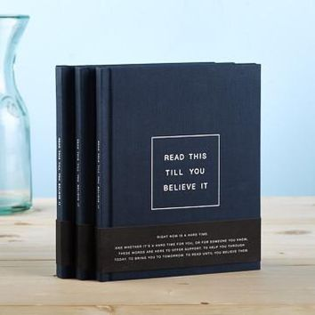 Read This Till You Believe It, A Hardcover Gift Book