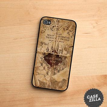 Iphone 5 5s 5c Case Harry Potter Inspired Marauders Map Iphone Cover Apple Iphone Case