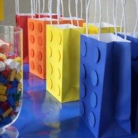 birthday party ideas / Lego Party bags.