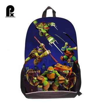 Children School Bags Boys Teenage Mutant Ninja Turtles Backpack 3D Print Cartoon Tortoise Schoolbag Kids Pupil Backpack Mochila