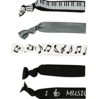 Music Hair Tie 5 Pack