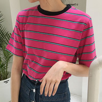COLLEGE STRIPED TOP
