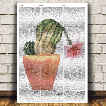 House plant art Watercolor print Flower print Plant poster RTA1573