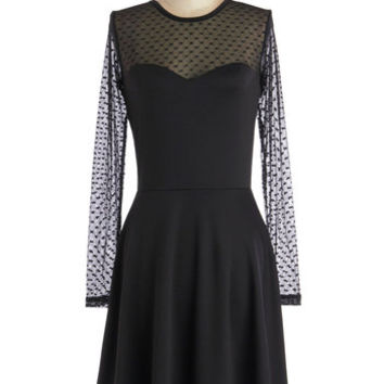 ModCloth LBD Mid-length Long Sleeve A-line Tasting for Two Dress