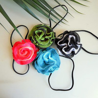 Headband crochet  rose, Brooch or Hair clip  gift for her, gift ideas. FREE SHIPPING