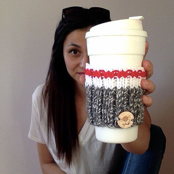 M u g H o l d e r  • K o d i a k | Mug holder | Mug warmer | Sock for mug | Drinks accessories | Tea accessory | coffee accessory | Handknit