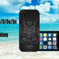 donny darko quotes custom design hard plastic available for iphone 4/4s,5/5s/5c ands samsung galaxy S3/S4/S5 case