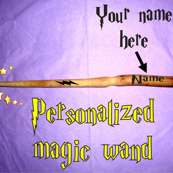 Harry Potter Magic Wand, Wizard Wand, Real Wood Wand, Magic Stick, Fairy Wand, Protect and Magic Wand, Personalized Name, Handmade Gift