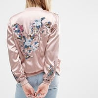 ASOS Ultimate Embellished Satin Bomber