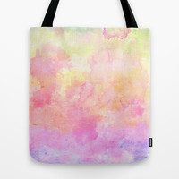 Rainbow Watercolour Gradient Tote Bag by Karen Weber