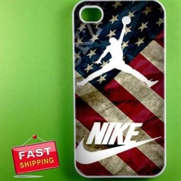 vintage us flag nike air jordan for iphone4/5, ipod 4/5, samsung galaxy s3,s4 and sams