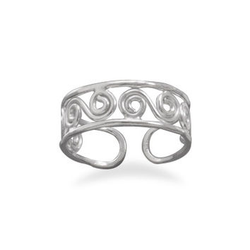 Scroll Design Toe Ring