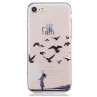 Unique creative Flying hope TPU Phone Case Cover for Apple iPhone 7 7 Plus 5S 5 SE 6 6S 6 Plus 6S Plus + Nice gift box! LJ160930-005