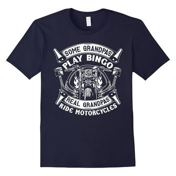 Real Grandpas Ride Motorcycle T-Shirt - Biker Grandpa Shirt