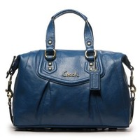 Coach Ashley Cobalt Leather Satchel 19247