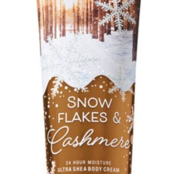 Bath & Body Works SNOWFLAKES & CASHMERE Body Cream 10  oz