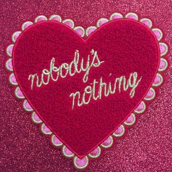 SALE! Nobody's Nothing Lonely Hearts Club Chenille Patch