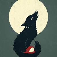 Little Red Riding Hood Art Print by Freeminds