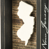 State Patriotic Pride Shadow Box Frame - New Jersey