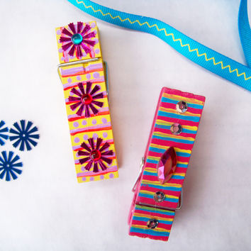Funky clothespin for home and office