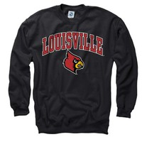 Louisville Cardinals Youth Black Perennial II Crewneck Sweatshirt