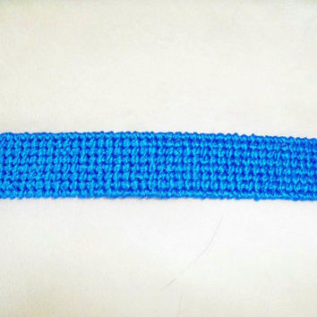 Blue Plastic Canvas Bookmark