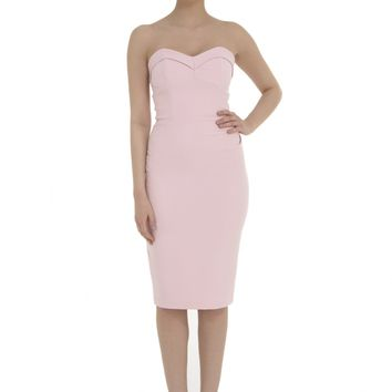 The Pretty Dress Company Palm Springs Pale Pink Wiggle Dress