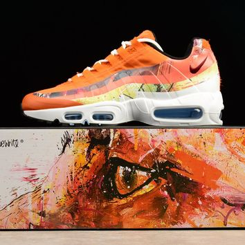 Nike Air Max 95 Og Orange Doodle Men Running Sport Casual Shoes Sneakers