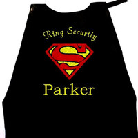 Boy's Ring Bearer Superman Cape,  Embroidered Ring Bearer Cape Personalized Wedding Photo Op