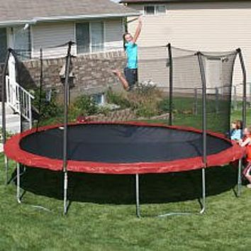 17' x15' Oval Trampoline and Enclosure Pad Color: Red