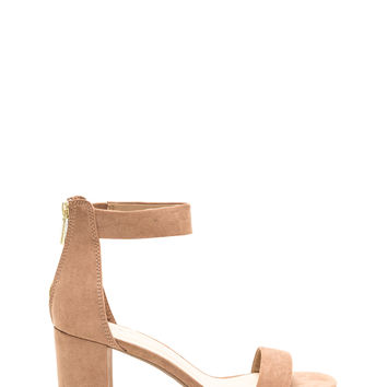 Block It Faux Suede Chunky Heels