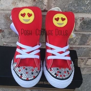 Emoji Sweetheart Custom Bling Converse