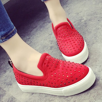 Summer Korean Stylish Fashion Thick Crust Low-cut Shoes [9432942986]