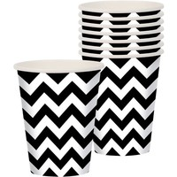 Black & White Chevron Cups 18ct