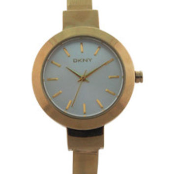 NY2350 Stanhope Gold-Tone Stainless Steel Bangle Bracelet Watch by DKNY (Women)