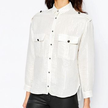 Mango | Mango Relaxed Shirt with Pockets at ASOS