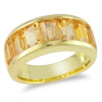 3 4/5 Carat Citrine Fashion Ring in Sterling Silver