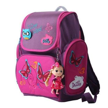 PEAPGC3 High quality brand Delune Super light 3D reflective children free Doll school bag kids students cartoon backpack girl travel bag