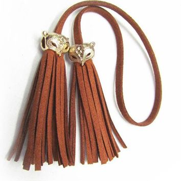Women Bag Adornment Ornament Tassel Fringe PU Leather Pendant For Bag Purse Buckle Handbag Female Accessories