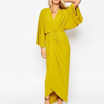 ASOS 70's Kaftan Wrap Maxi Dress at asos.com