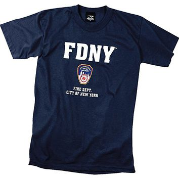 FDNY Offically Licensed Navy Blue T-Shirt