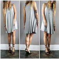 A Basic Tank Dress in Grey