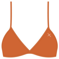 Burnt Orange Fitted top II - Boutine LA