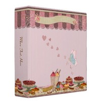 Bakery Boutique Cakes & Patisserie Binder from Zazzle.com