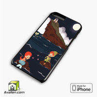 Peter Pan And Ariel Mermaid iPhone 6 plus Case Cover by Avallen