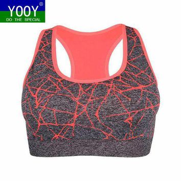 Professional Women Shockproof Sports Bra Stretch Push Up Padded Fitness Vest Breathable Seamless Underwear Yoga Running T