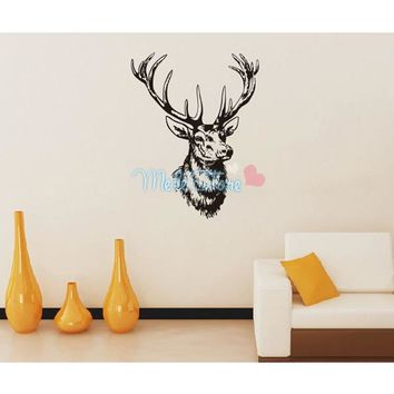 Cartoon Deer Wall Stickers Animal Wallpaper Living Room Home Decoration Children Sticker Fashion DIY Art Waterproof Removable